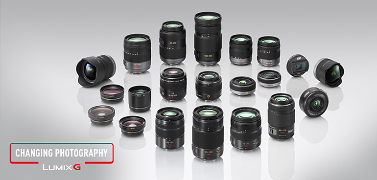 Die Panasonic Lumix Objektiv-Palette [Foto: Panasonic]