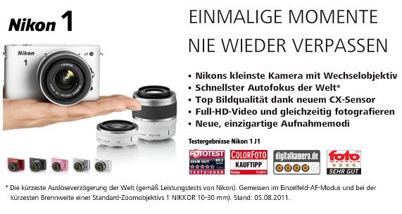 Nikon 1 – Einmalige Momente nie wieder verpassen [Foto: Nikon]